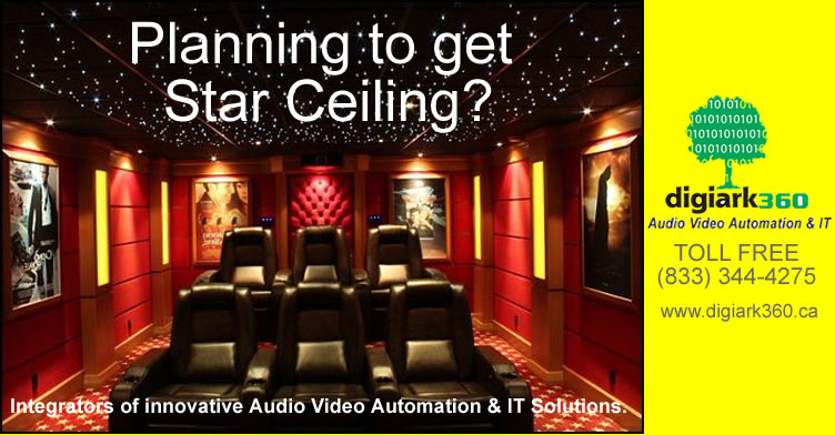 Fibre Optic Lighting And Star Ceilings For Home Theater